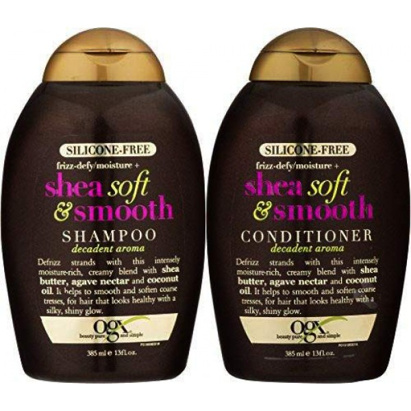 OGX Frizz-defy/Moisture SHEA SOFT & SMOOTH SHA...
