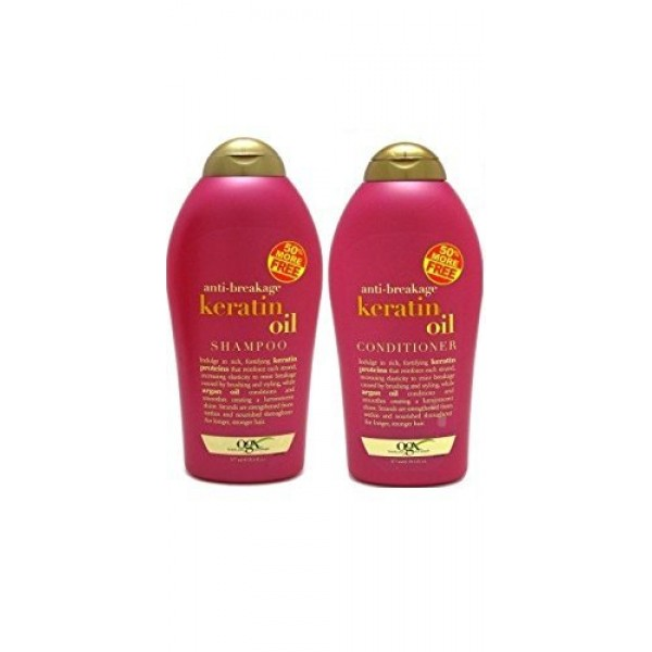 OGX Anti-Breakage Keratin Oil Shampoo + Conditione...