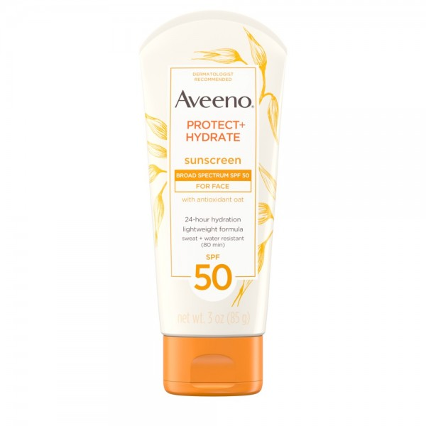 AVEENO® PROTECT & HYDRATE LOTION SUNSCREEN WITH BROAD SPECTRUM SPF 50 FOR FACE
