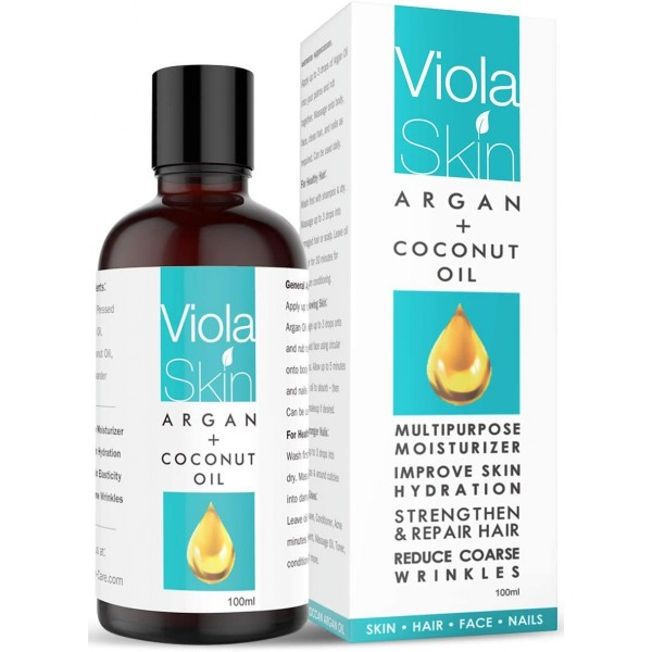 ViolaSkin NATURAL Argan Oil & Coconut Oil For Face, Hair, Skin & Body